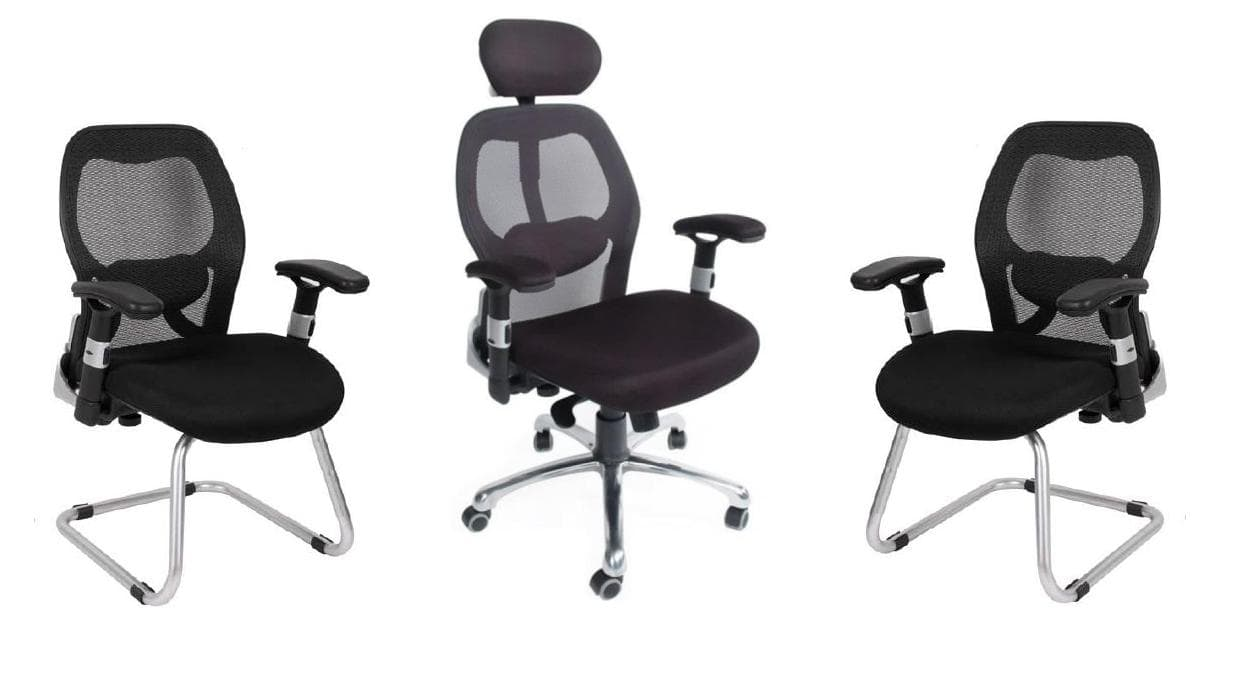 Ensemble de fauteuils delta bureau for Ensemble de bureau