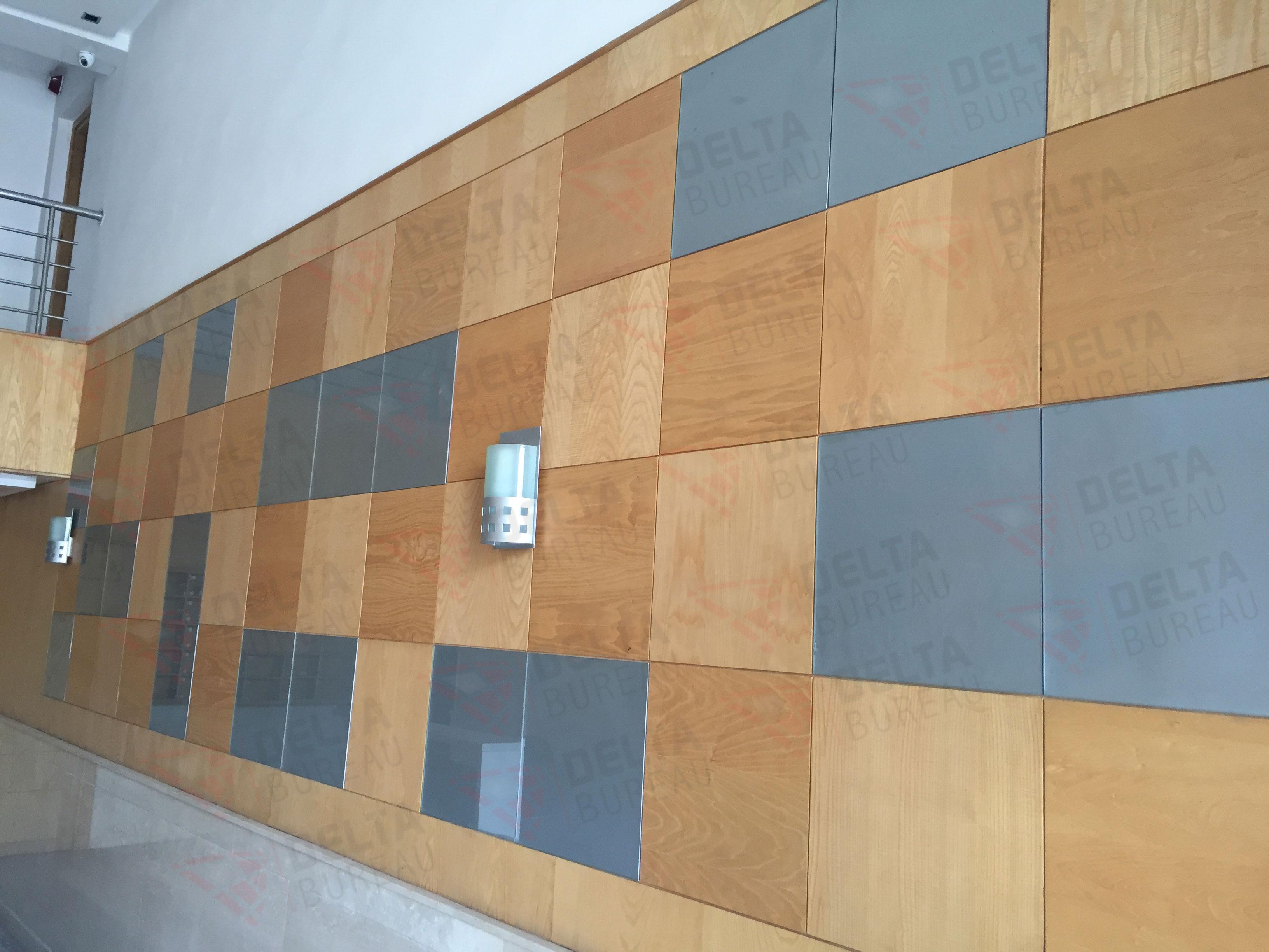 Habillage mural u delta bureau